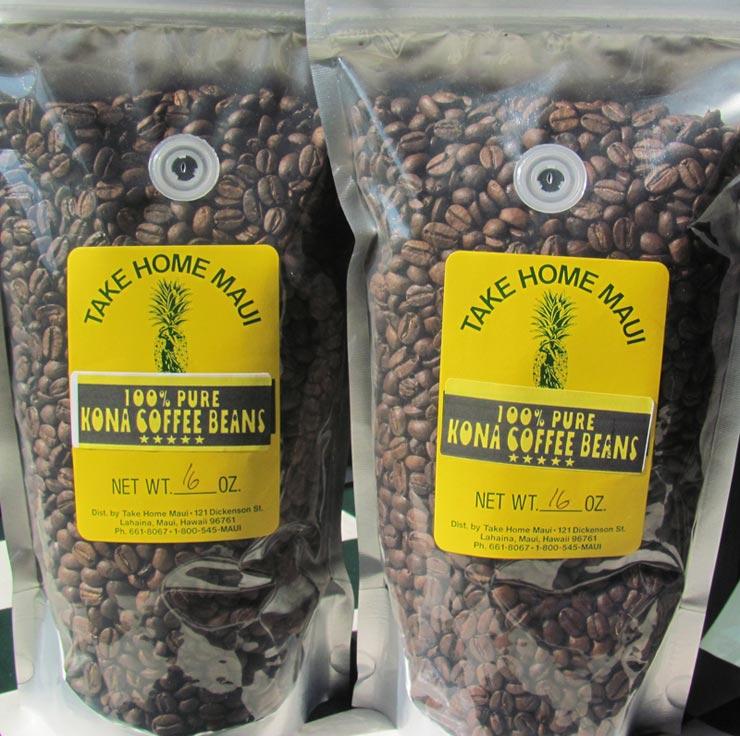Pure Kona coffee beans